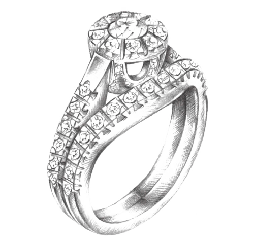 Sketch is the 1st step of jewelry design