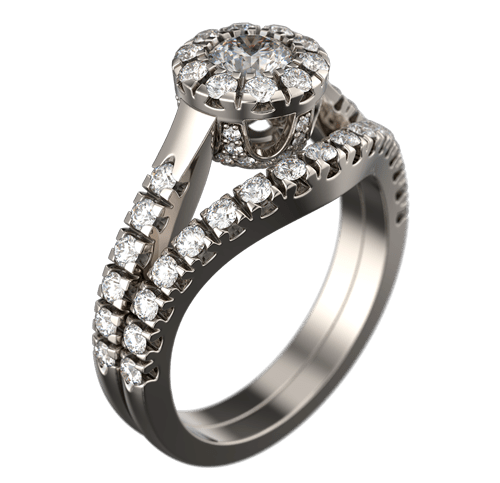Photorealistic render of ring's 3d model